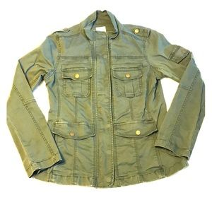 Kensie Army Green Cargo Utility Jacket Small